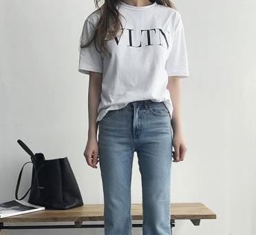 Tシャツ レディース 半袖 カジュアル★Uネック 春...
