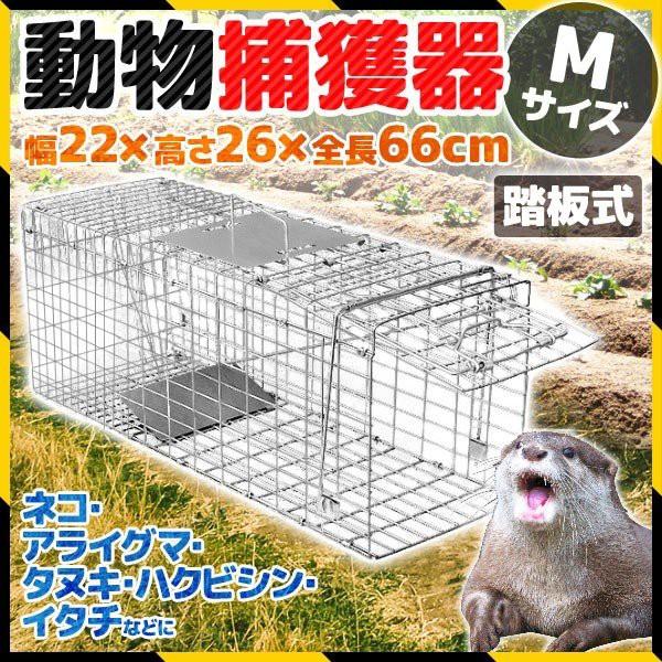 小動物用捕獲器 Mサイズ アニマルトラップ 畑 庭 ...