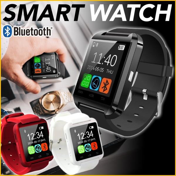 腕時計 スマートウォッチ ブラック Bluetooth 液...