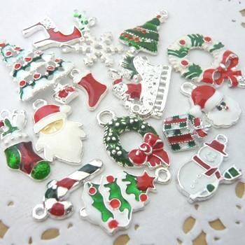 カラー金属チャーム クリスマス15種30個セット ...