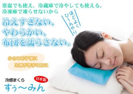 枕 まくら 枕カバー 冷蔵庫 冷感 常温 凍 ひんやり 寝心地 子供 冷え性 氷枕 エアコン 熱 夏[ 冷