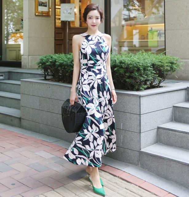 花柄サマードレス ワードスカート