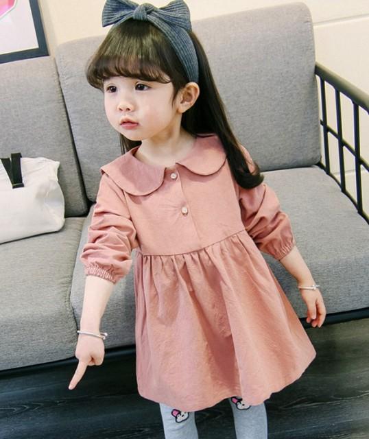 【KIDS】フレンチガーリー クラシカルな秋色ワン...