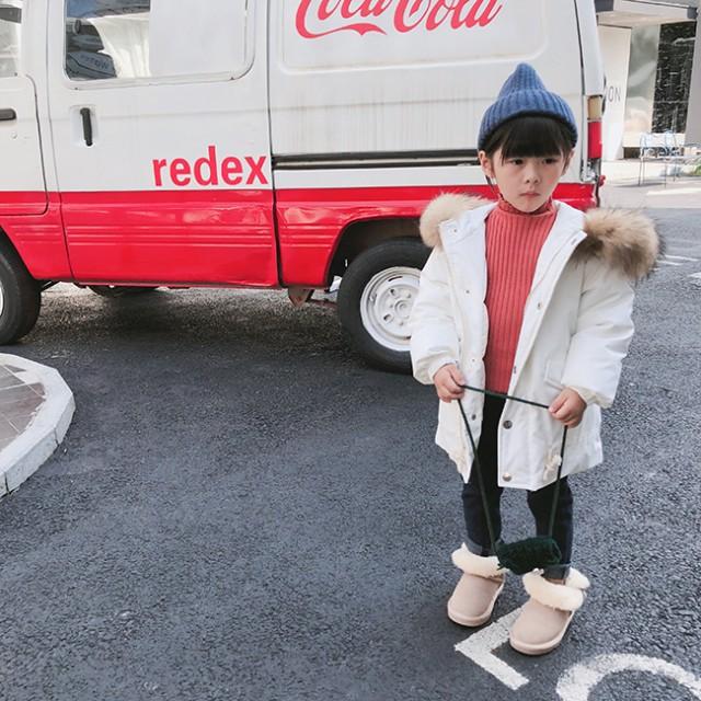【KIDS】ボリュームファーと大き目フード ミディ...