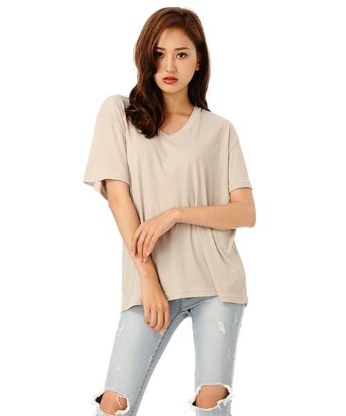 DURAS VネックTシャツ D1630148