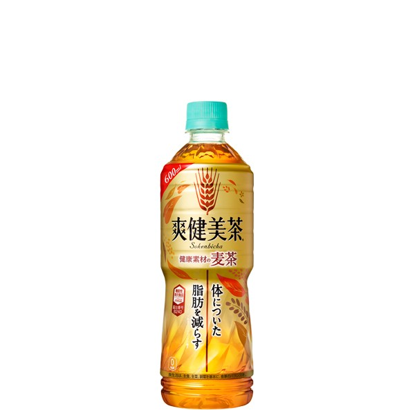 爽健美茶 健康素材の麦茶 600mlPET【24本×1ケー...