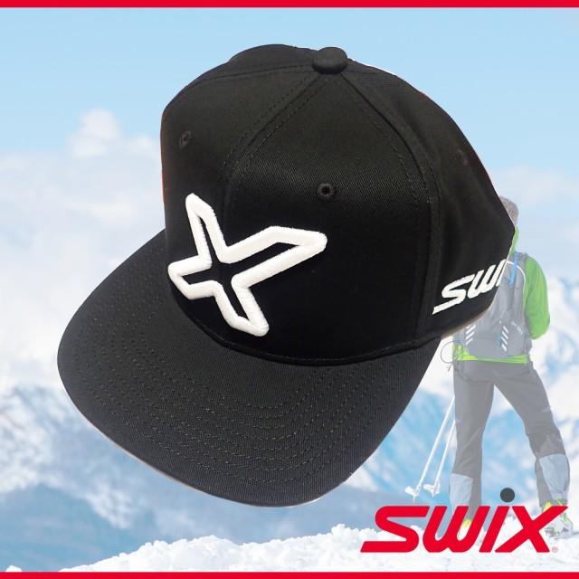 Swix スウィックス PRキャップ ブラック 帽子 ベ...