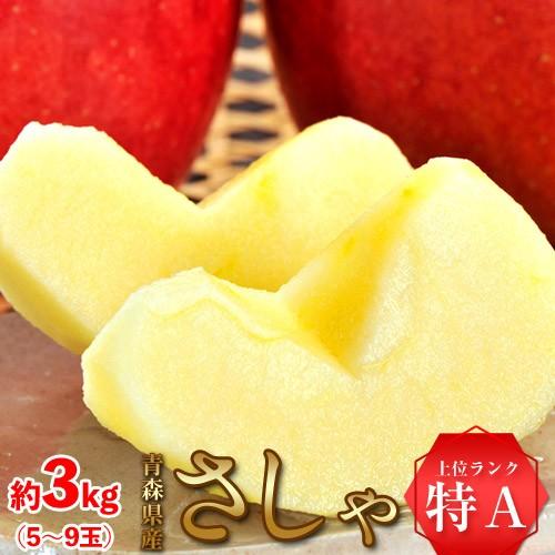 りんご リンゴ 送料無料 青森県産 さしゃ 約3キロ...