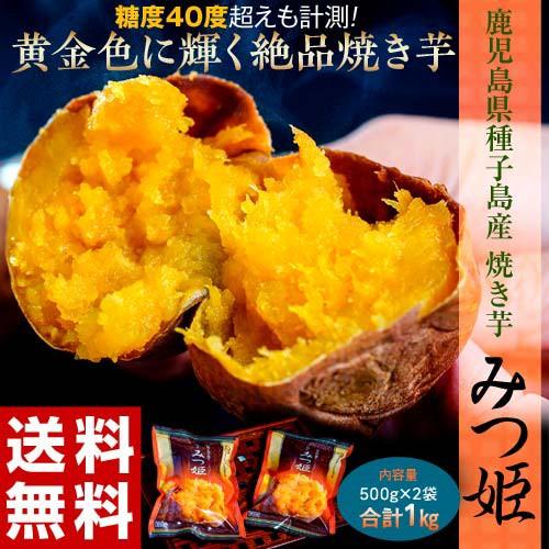 焼き芋 やきいも 鹿児島県種子島産 みつ姫 500g×...