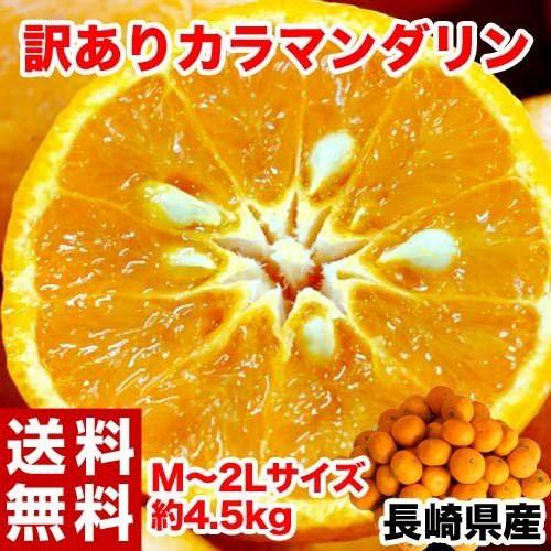長崎県産 訳ありカラマンダリン M〜2Lサイズ 約4....