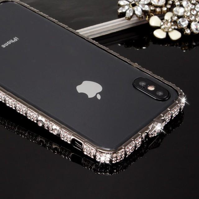 iPhone X ケース アイフォンX カバー  ラインスト...