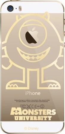 ディズニー iphone SE/ipohne5s/5 クリアデザイン...