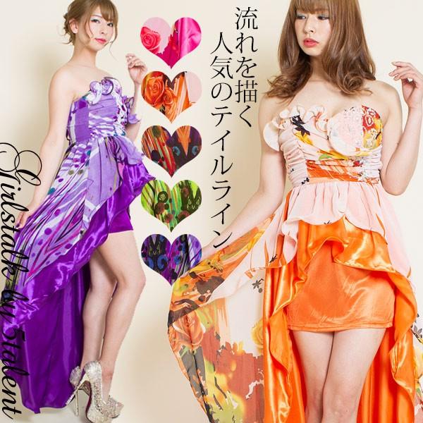 【背中スピンドル】ミニもロングも楽しめるドレス...