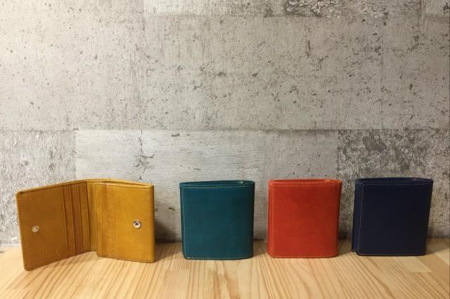【水牛】カラフル二つ折り財布〈4色展開〉ボック...