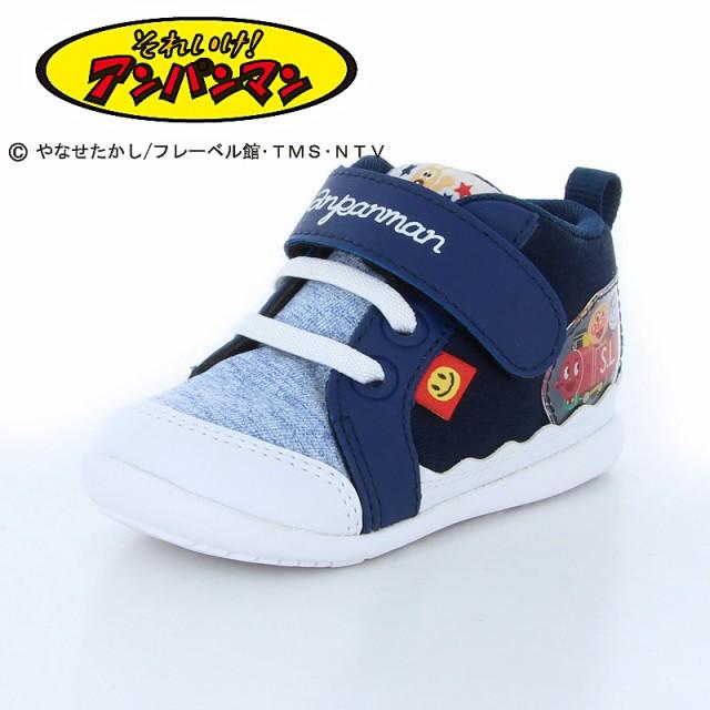 (還元祭)アンパンマン 子供靴 APM B27 ネイビー ...