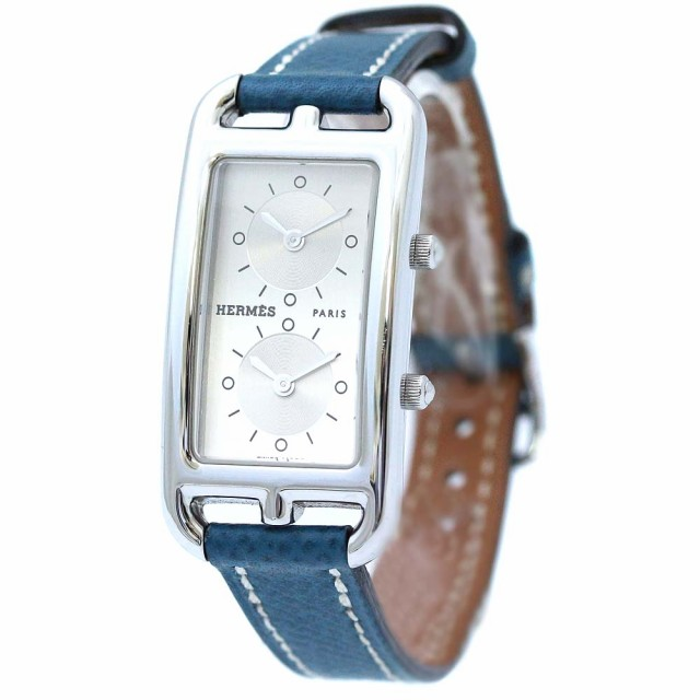 buy online 0699c a40ed 【中古】HERMES エルメス ケープコッド ドゥゾーン 腕時計 レディース クオーツ シルバー文字盤 シルバー ブルー CC3-210