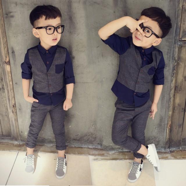 キッズスーツ 男の子 子供服 1-6歳 リングボ...