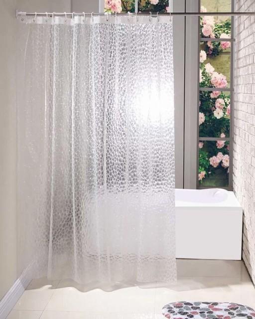 シャワーカーテン透明 ビニール 防カビ 防水 間仕...