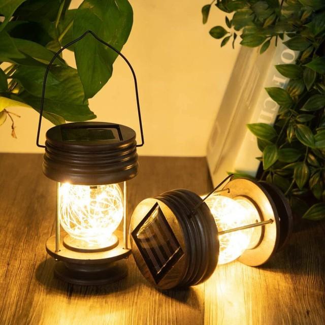ソーラー ランタン ガーデンライト ムードランプ ...