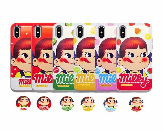 ペコちゃん 不二家 スマホケース iPhoneX iPhone...