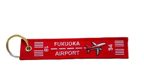 フライトタグ 福岡空港 Ver. FUK BASE AIRPORT 赤...