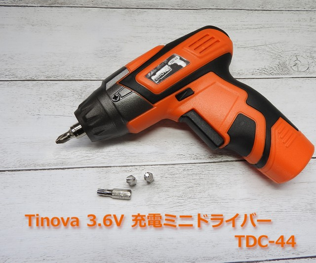 Tinova 3.6VコードレスドライバーセットDIY工具セ...