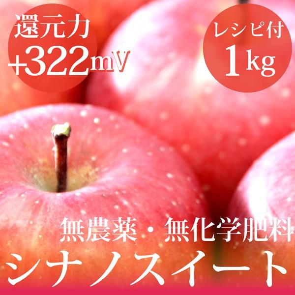 リンゴ シナノスイート1kg 無農薬・無化学肥料  ...