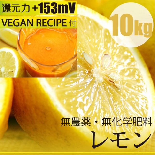 レモン 10kg 無農薬・無化学肥料 ヴィーガンレシ...
