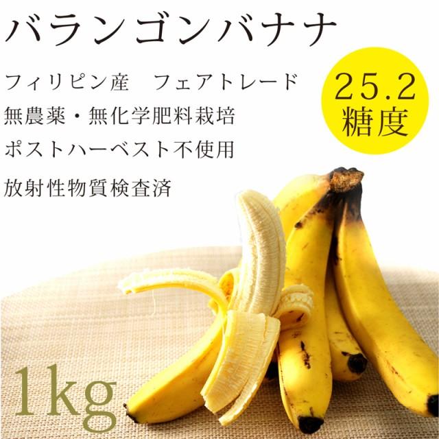 無農薬・無化学肥料 バランゴンバナナ1kg放射性物...