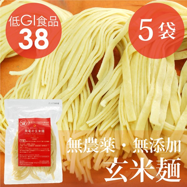 HIRYUの玄米麺 100g×5pc 無農薬・無化学肥料コシ...