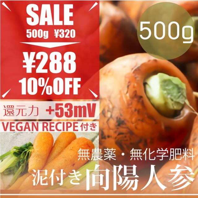 今だけ10%OFF 泥付き向陽新人参 新ニンジン 500g ...
