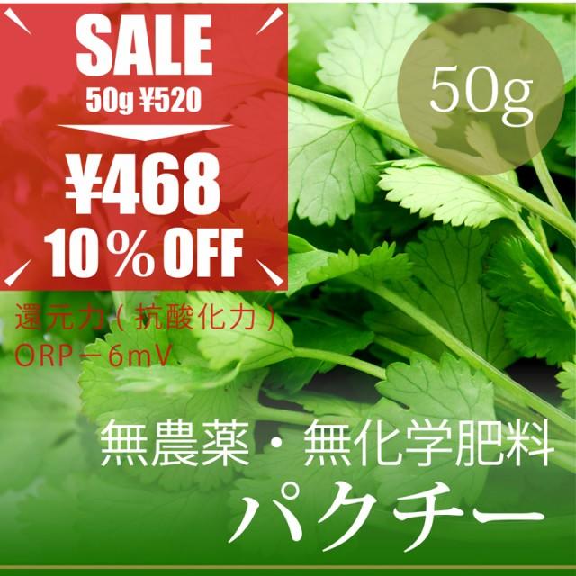 """""""パクチー""""50g 無農薬・無化学肥料・千葉県産・..."""