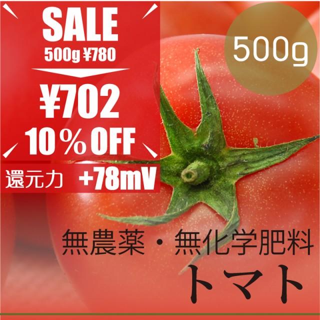 今だけ10% OFF トマト500g  無農薬・無化学肥料・...
