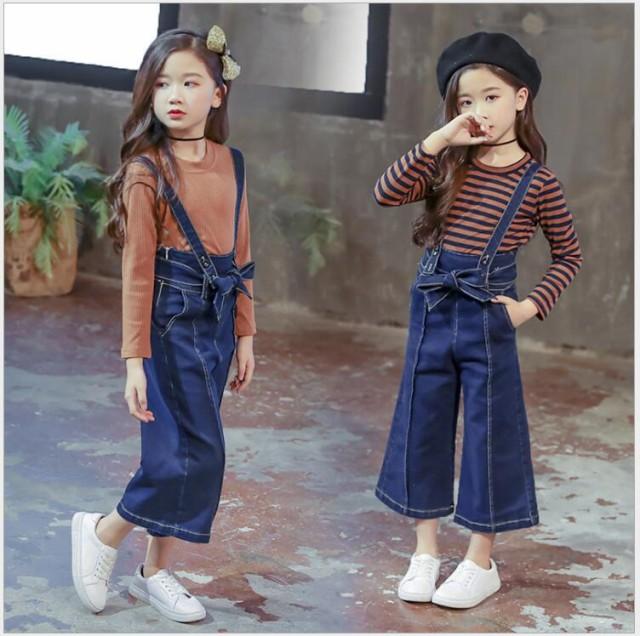 学生 韓国子供服 春秋着 女の子 2点セット 長袖 ...