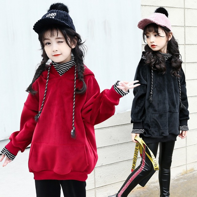 韓国子供服 女の子 トップス Tシャツ パーカー・...