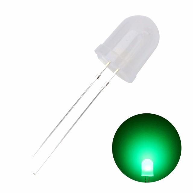 1795(10個) LED 砲弾型 10mm (乳白色) 緑色 2000...