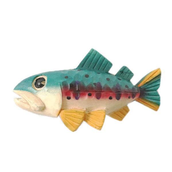 木製 マグネット ヤマメ 木彫り 魚 さかな ...