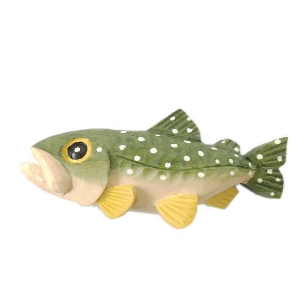 木製 マグネット アメマス 木彫り 魚 さかな...