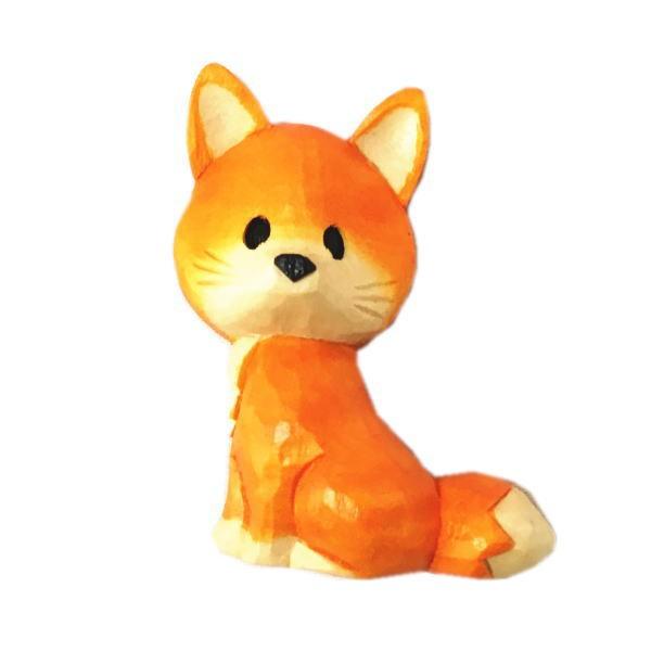 木製 マグネット きつね 木彫り キツネ 狐 ...
