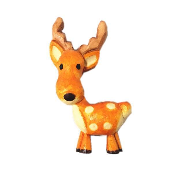 木製 マグネット シカ 夏しか 木彫り 鹿 し...