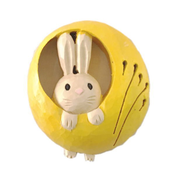 木製 マグネット 月ウサギ満月 木彫り うさぎ...
