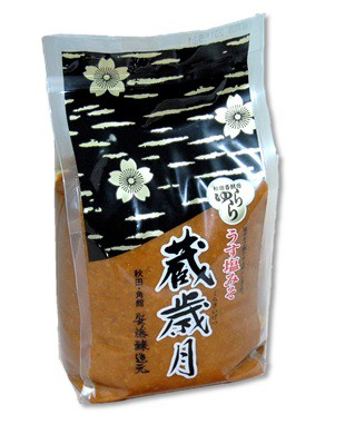 秋田 角館 安藤醸造 うす塩味噌蔵歳月味噌1kg...