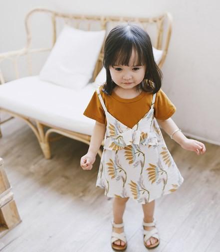 【取寄せ】2点セット 半袖Tシャツ&花柄キャミワ...