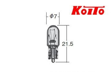 自動車用・計器・表示灯用ウエッジ球24V3W(品番16...