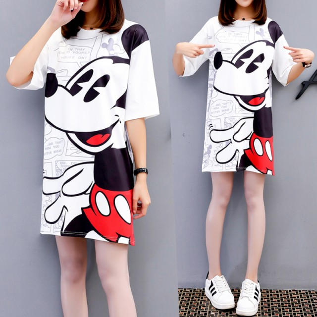 【M-3L】ミッキーマウス ディズニー ロングTシ...