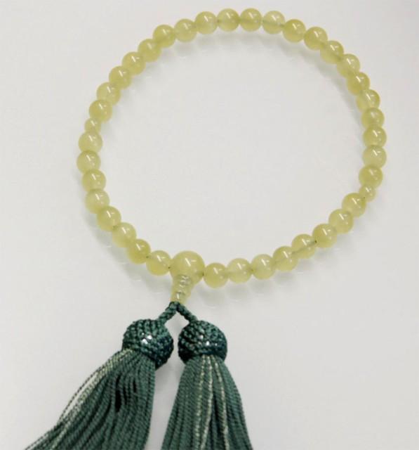 数珠  グリーンオニキス 7ミリ珠共仕立 正絹 頭房...