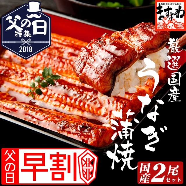 お中元 早割 ギフト【国産】特大うなぎ蒲焼2本セ...