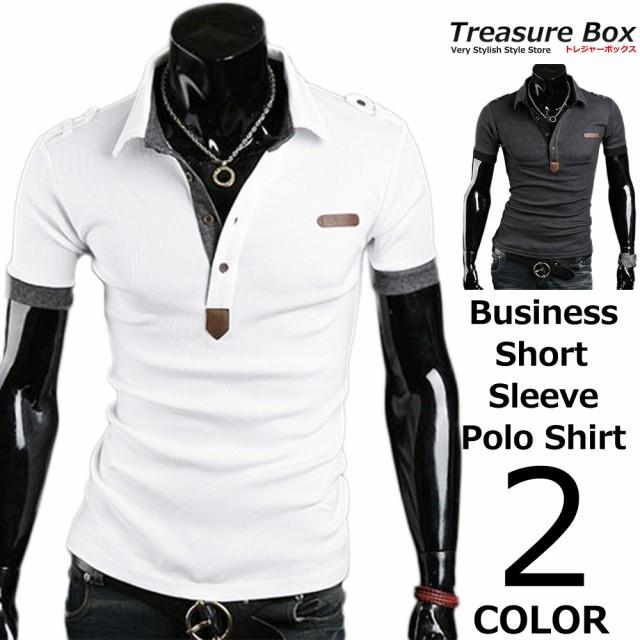 ゴルフウェア メンズ ポロシャツ 半袖 ビジネス