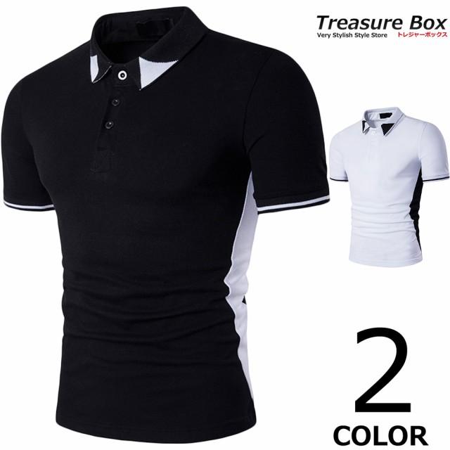 ゴルフウェア メンズ ポロシャツ 半袖 スリム