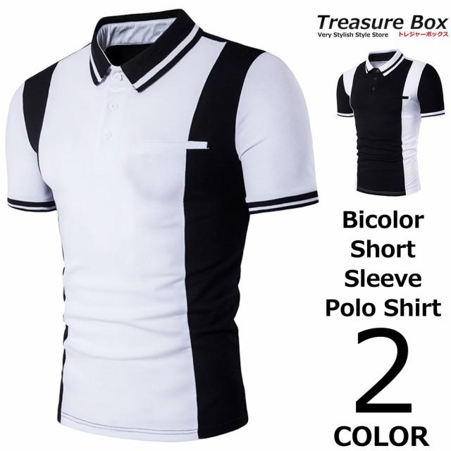 ゴルフウェア メンズ ポロシャツ 半袖 バイカラー...